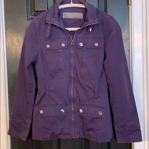 Zara purple utility jacket small LSU Clemson